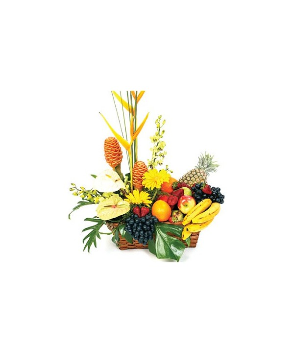 D25.0 Fruit & Tropical Flower Basket