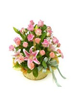 Arrangement of Assorted Pink Flowers