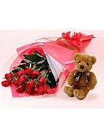 A1-Select Rose and Teddybear