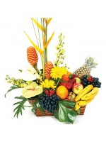 D25.0 Fruit & Tropical Flower Basket