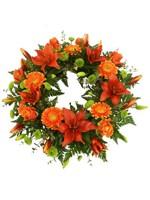 D.Gerbera & Lily Wreath