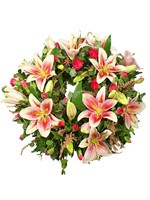F.Pink Lily Wreath