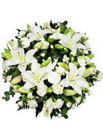 G.White Lily Wreath