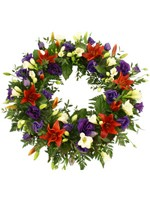 H.Traditional Lilly & Freesia Wreath