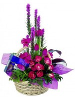 C28.3 Chocolate and Flower Basket